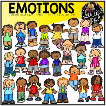 Emotions Clip Art Bundle (Educlips Clipart)