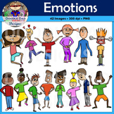 Emotions Clip Art (Happy, Sad, Scared, Nervous, Silly, Ecs