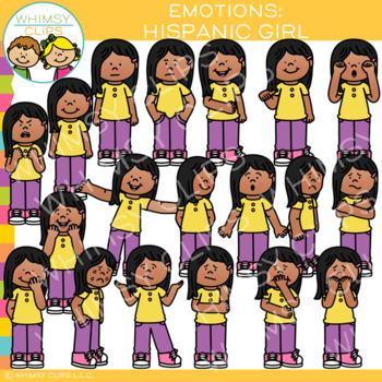 Emotions Clip Art: Hispanic Girl
