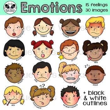 Emotions Clip Art Kids