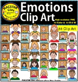 Emotions Clip Art   Personal and Commercial Use