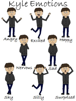 Emotions, Clip Art, Same Character - Different Emotions
