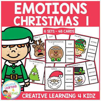 Emotions Clip Cards - Christmas 1