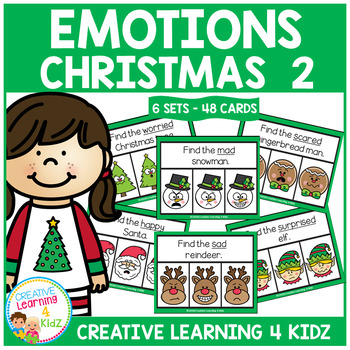 Emotions Clip Cards - Christmas 2