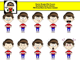 Emotions Clipart - Boy Version - 28 PNG Files for Personal or Commercial Use
