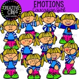 Emotions Clipart: Caucasian Girl {Creative Clips Clipart}