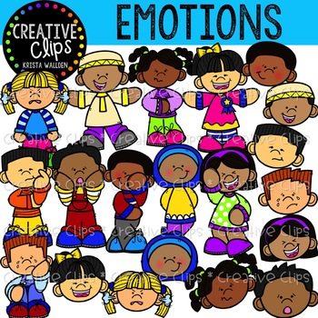 Emotions Clipart {Creative Clips Clipart}