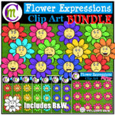 Emotions Clipart | Flower Expressions Clip Art BUNDLE