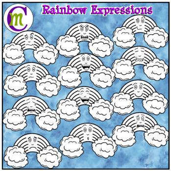 Emotions Clipart   Rainbow Expressions Clip Art
