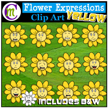 Emotions Clipart | Yellow Flower Expressions Clip Art