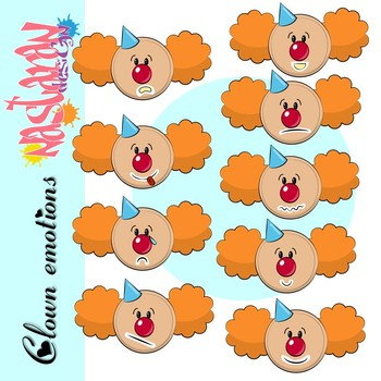 Emotions and Feelings Clip Art-Clowns Clipart