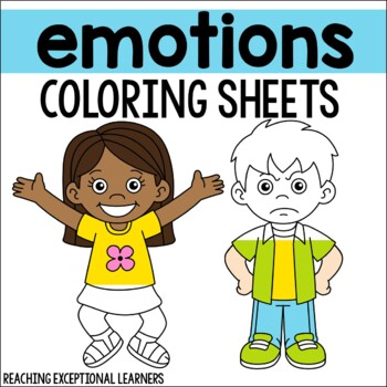 Emotions Coloring Sheets