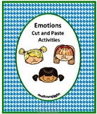 Identifying Feelings and Emotions Activities Cut and Paste Worksheets Pictures