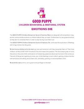 Emotions Die . Child Behavioral & Emotional Tools by GOOD PUPPY
