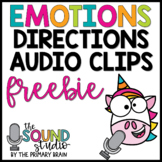 Emotions Directions Audio Clips FREEBIE | Sound Files for