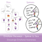 Emotions Discussion Starters   Dice and Spinners (Discussi