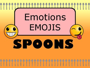 Emotions Emojis Spoons Card Game - Emotions Vocabulary in English
