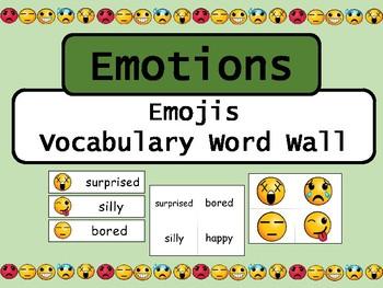 Emotions Emojis Vocabulary Word Wall – ESL Emotions Vocabulary