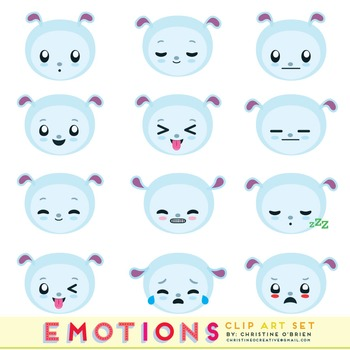Emotions / Emoticons Clip Art Set