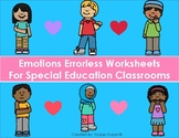 Emotions Errorless Worksheets for Special Education