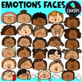 Emotions ~ Faces Clip Art Bundle {Educlips Clipart}