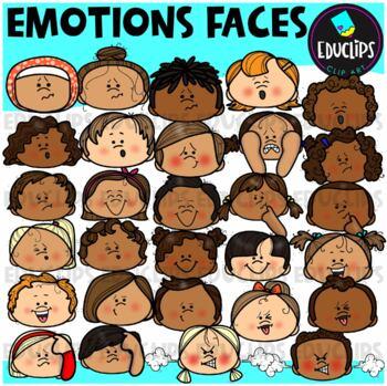 Emotions ~ Faces Clip Art Bundle {Educlips Clipart}