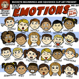 Emotions ~ Faces Clip Art {Squishies Clipart}