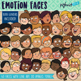Emotions Faces Clipart for Print or Movable Digital Pieces