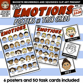 Emotions ~ Faces Posters and task cards {Squishies Clipart}