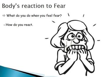 Emotions  - Fear w/worksheet (POWERPOINT)