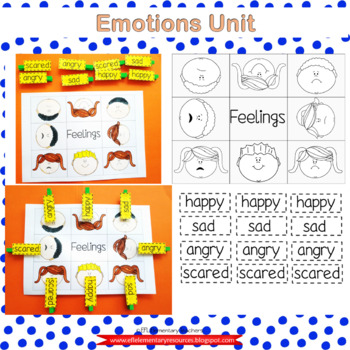 Emotions-Feelings Activities  for Elementary ELL