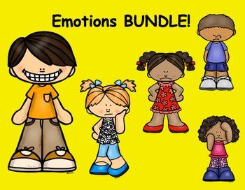 Emotions - Feelings   Posters -  Sentence Strips -  Half Book  Bundle