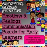 Emotions & Feelings Communication Boards and Posters for T