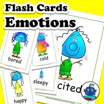 Emotions & Feelings ESL Flash Cards. 14 Expressions.