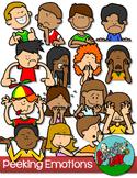 Emotions / Feelings Peeking Kids Clip art