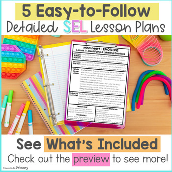 Emotions & Feelings Social Emotional Learning & Character Education Curriculum