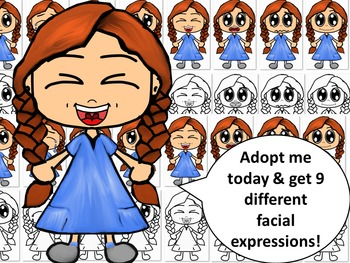 Emotions, Feelings, and Expressions Clip Art Kids: Caucasi