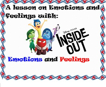 Emotions & Feelings with Inside Out-Smart Board Lesson