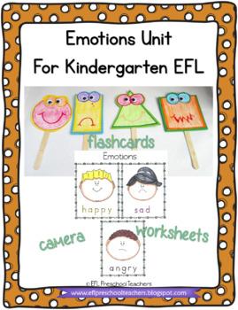 Emotions/Feelings worksheets for Preschool ELL