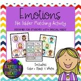 Emotions File Folder Matching Activity