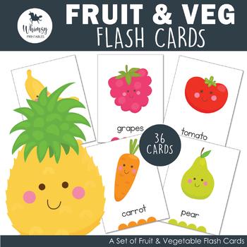 Fruit & Vegetable Flash Cards