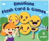 Emotions Flash Cards & Games, Preschool, Kindergarten , home school