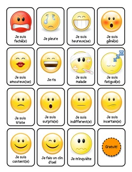 Emotions Flash Cards (cartes des emotions)