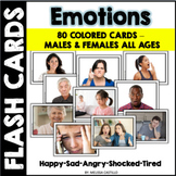 Emotion Flashcards - Real pictures of Males & Females All Ages