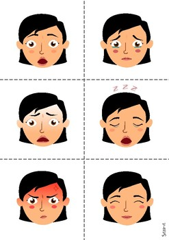 Emotions: Flashcards and worksheet
