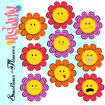 Emotions-Flowers Clipart