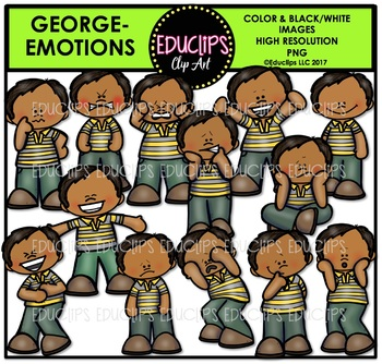 Emotions - George Clip Art Bundle {Educlips Clipart}