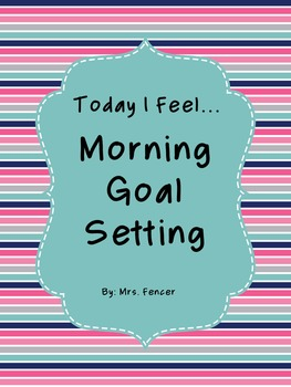 Today I Feel - Life Skills Morning Work