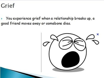 Emotions  - Grief w/worksheet (POWERPOINT)