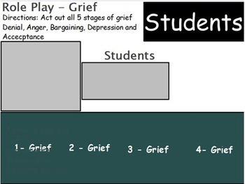 Emotions  - Grief w/worksheet (SMART BOARD)